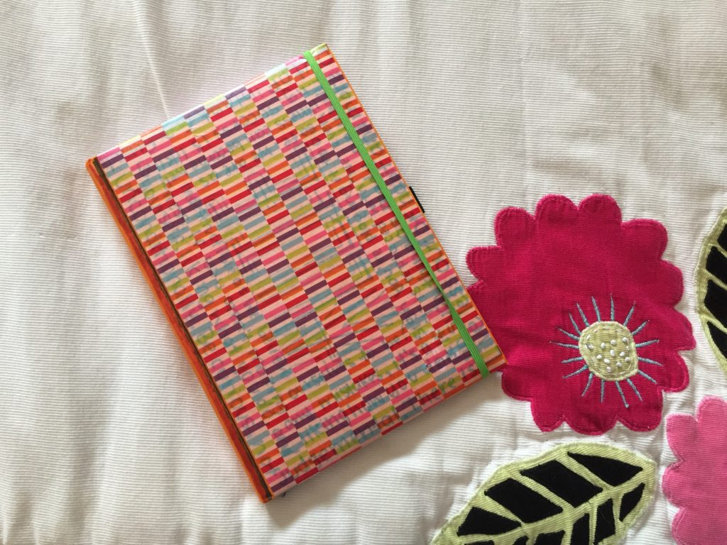 notebook covered in washi tape