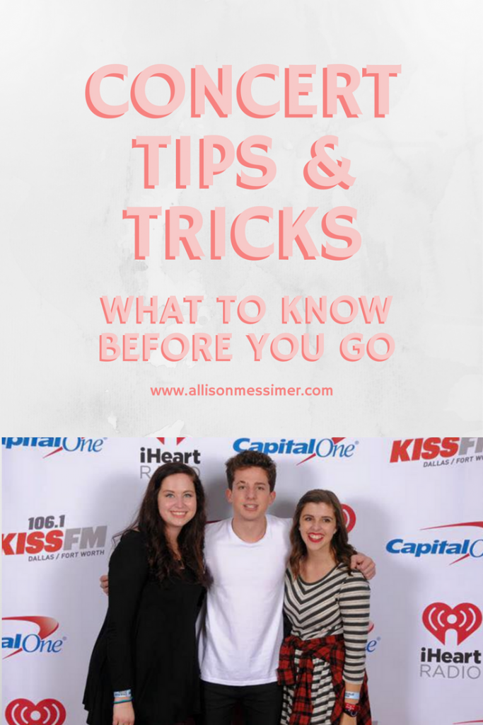 concert tips and tricks