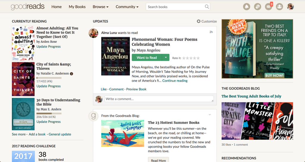 goodreads_home_page_app
