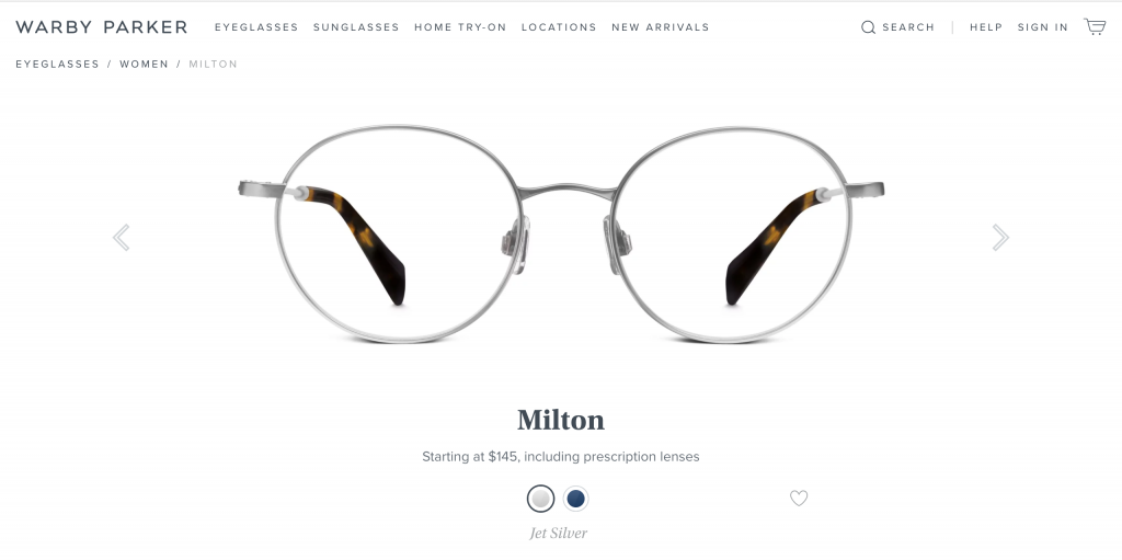 Warby Parker Glasses Milton Silver Round