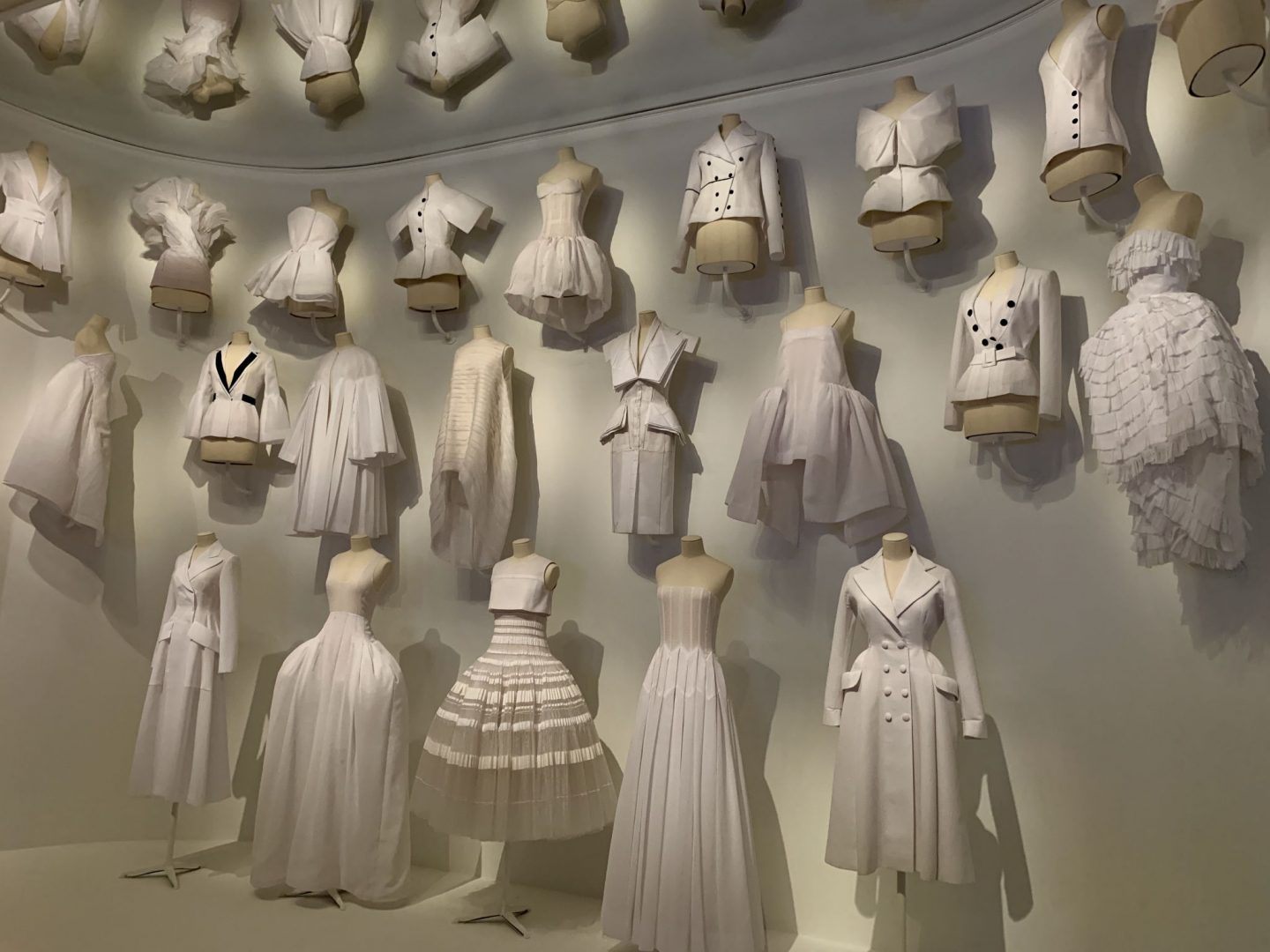 Christian Dior Art Exhibit at the Dallas Museum of Art white