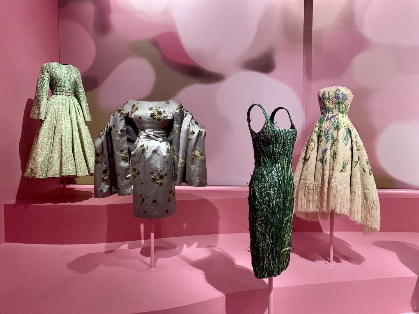 Christian Dior Art Exhibit at the Dallas Museum of Art floral dresses