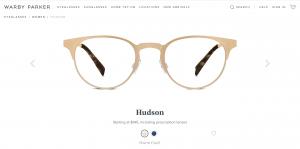 Warby Parker Glasses Hudson Gold Cat Eye Clubmaster
